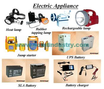 We supply such as Battery charger,Jump starter,SLA battery,UPS battery,Rubber tapping lamp,Rechargeable lamp,electric appliances